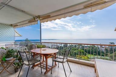 Appartement à la vue magnifique sur la baie de Cannes et piscine