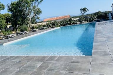 Villa T3 U Alivu, maquis, piscine