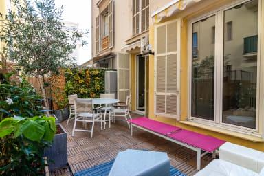 Beau rez de jardin au cœur de Nice
