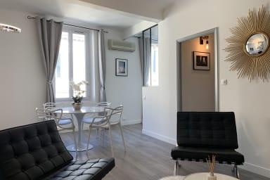 Appartement moderne dans le carré d'or à Cannes avec aperçu mer !
