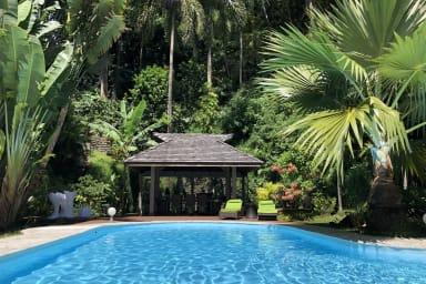 Villa Jo Mahina, le jardin tropical