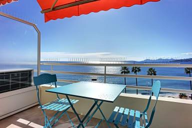 (007) - Magnifique studio vue mer climatisation centre ville Balcon
