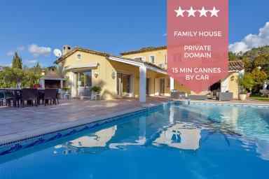 👍 KIKILOUE 👍 Villa familiale avec piscine pour 10 à 15 min de Cannes !