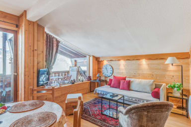 Cozy 2-bedroom with terrace overlooking the valley of Megève – Welkeys