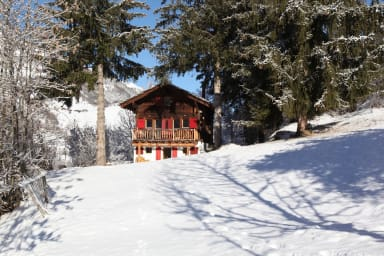 Idyllic chalet in Evolène, with view on the Dent Blanche and the mountains