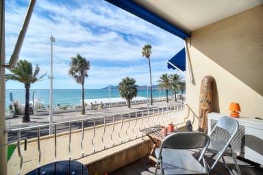 IMMOGROOM - Sea view - A/C - direct access to the beach - CONGRESS/BEACHES