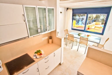 Kitchen area with lovely outside view