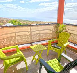 Appartement LES NYMPHEAS terrasse avec mobilier Plateau Caillou