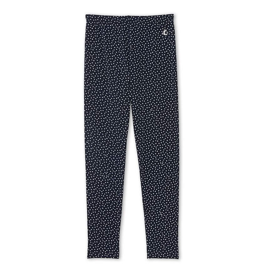 Girls' polka dot leggings