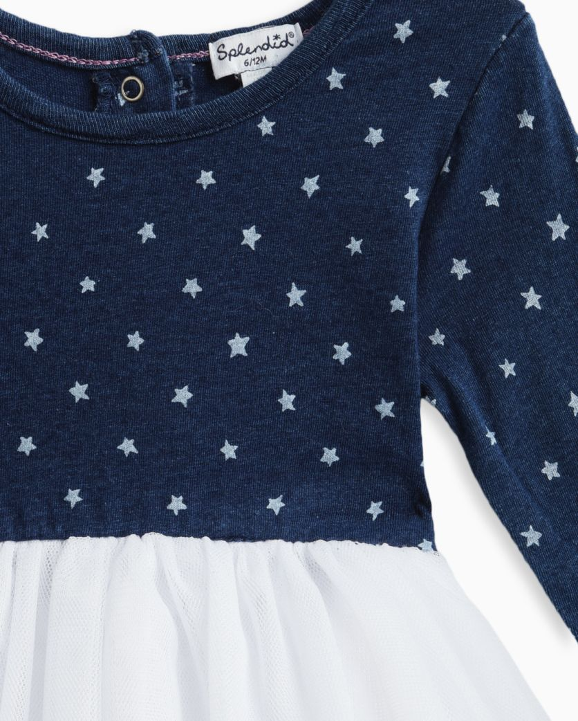 Baby Girl Indigo Tutu Star Dress