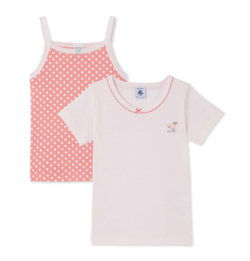 Set of girl's undershirts