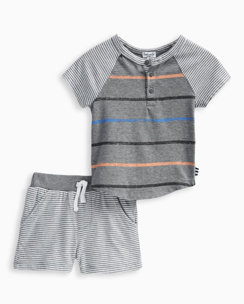 Baby Boy Stripe Tee and Short
