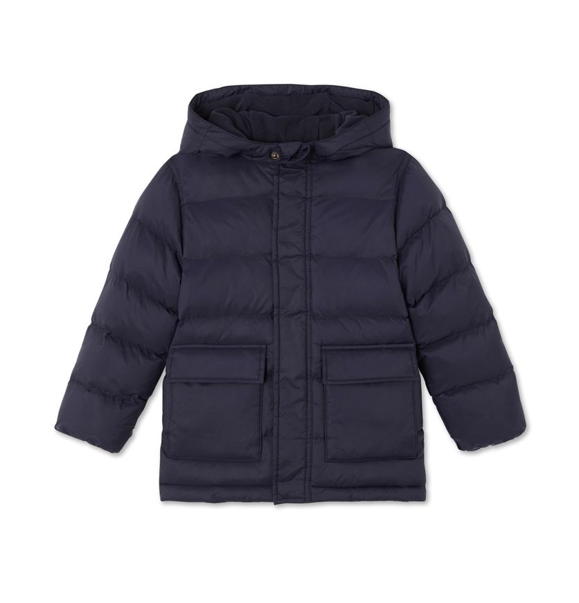Boys' water-resistant lined anorak