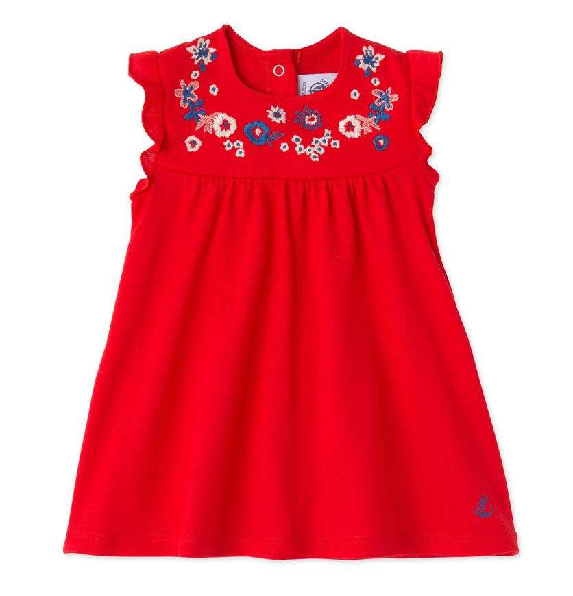Baby girls' embroidered dress
