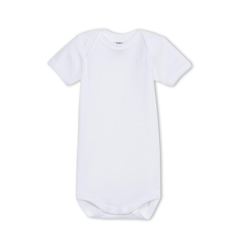 Unisex baby plain short-sleeve bodysuit
