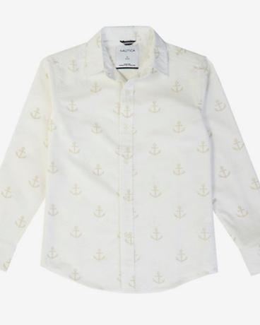 Little Boys' Anchor Button-Down Shirt (2T-7)