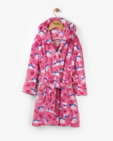 Winter Bunnies Kids' Fleece Robe