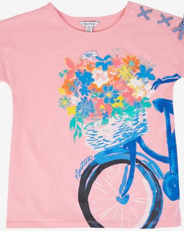 Girls' Bike Flower Basket Tee (8-16)