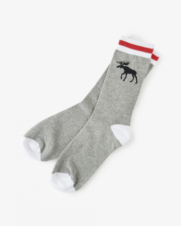 Grey Stripe Crew Socks