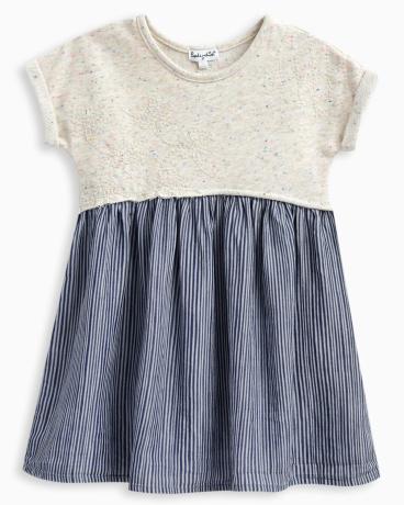Little Girl Mixed Fabric Dress