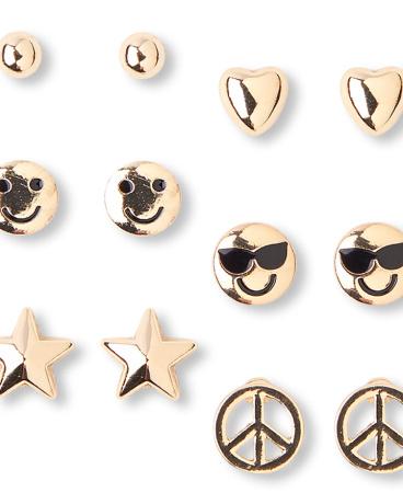 Girls Peace Earrings 6-Pack