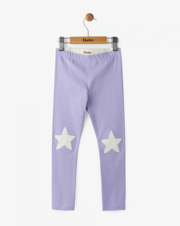 Lilac Glittering Star Leggings