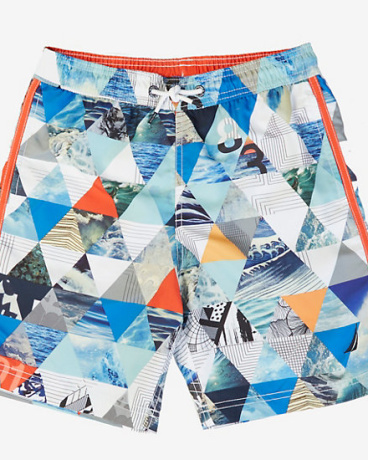 Boys' Ocean Photo Swim Trunk (8-16)