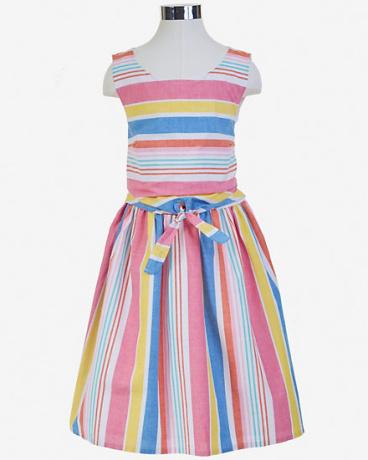 Little Girls' Striped Tie-Front Dress (2T-7)