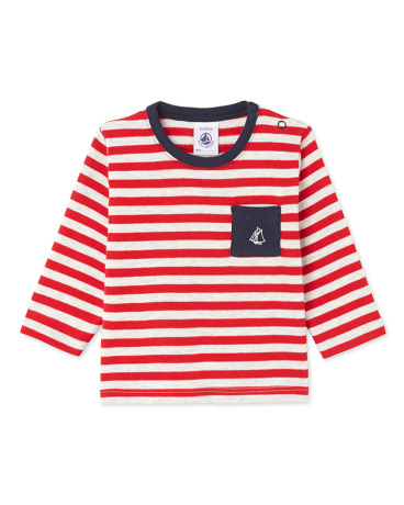 Baby boy's long-sleeved striped tee