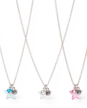 Girls Star BFF Necklace 3-Pack