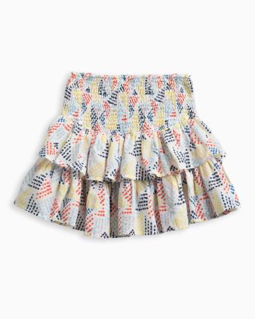 Girl Allover Print Ruffle Skirt