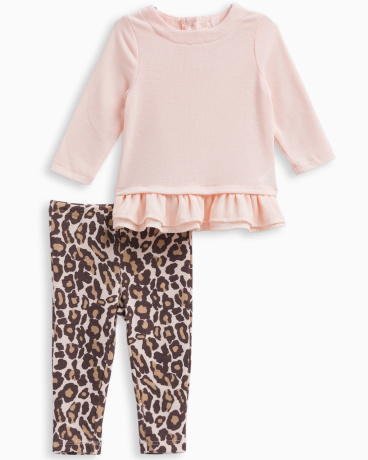 Baby Girl Animal Print Legging Set