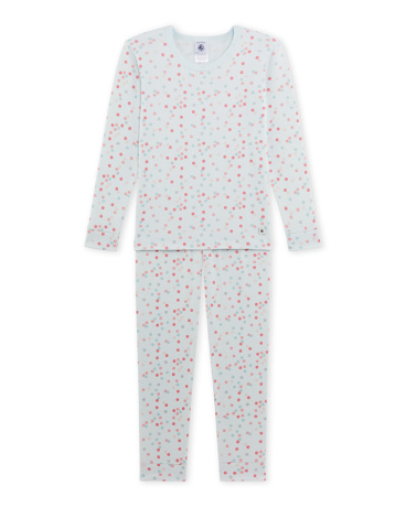 Girl's sparkly polka dot print pajamas