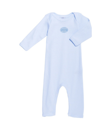 Baby boy long-legged bodysuit in milleraies stripe