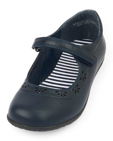 Girls Uniform Perforated Class Shoe