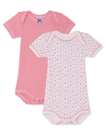 Pack of 2 baby girl bodysuits