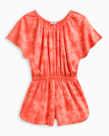 Girl Tie Dye Romper with Lurex Stripe