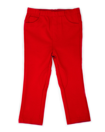 Girl's Red Ponte Pant
