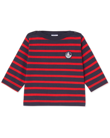 Baby boy's heavy jersey sailor-style top