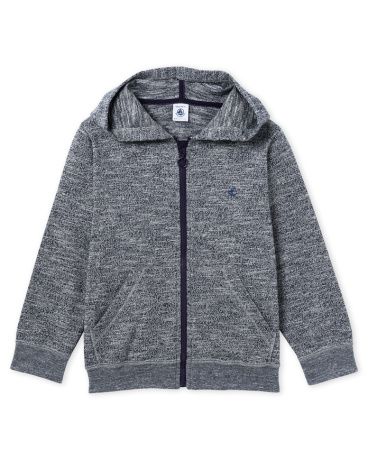 Boys' zipped sweatshirt