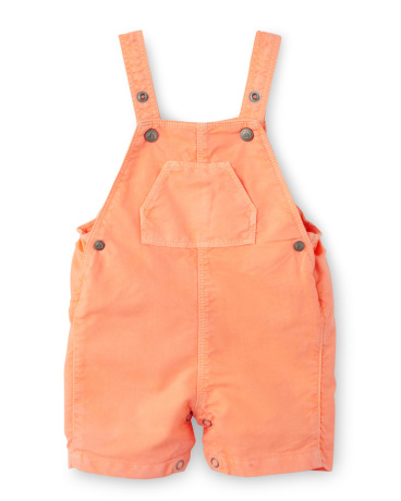 Baby boy short overalls in oxford