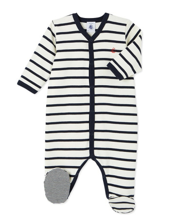 Unisex baby's striped sleeper
