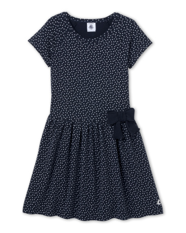 Girls' polka-dot dress