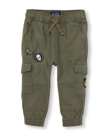 Toddler Boys Patch Cargo Jogger Pants