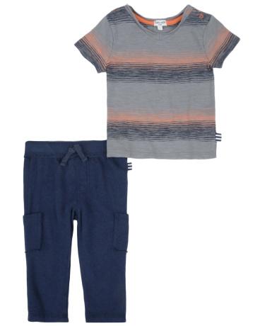 Baby Boy Stripe Knit Pant Set