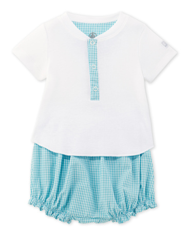Baby boy T-shirt and bloomers set