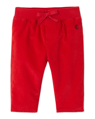 Baby boy's stretch velours pants
