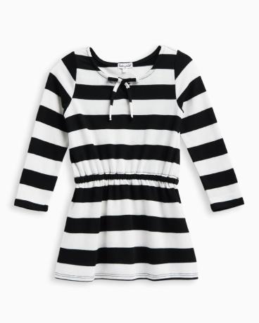 Little Girl Stripe Loose Knit Dress