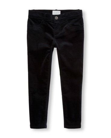 Girls Velvet Woven Jeggings