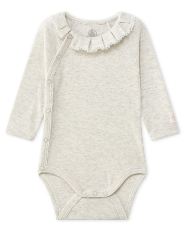 Newborn baby girl's bodysuit